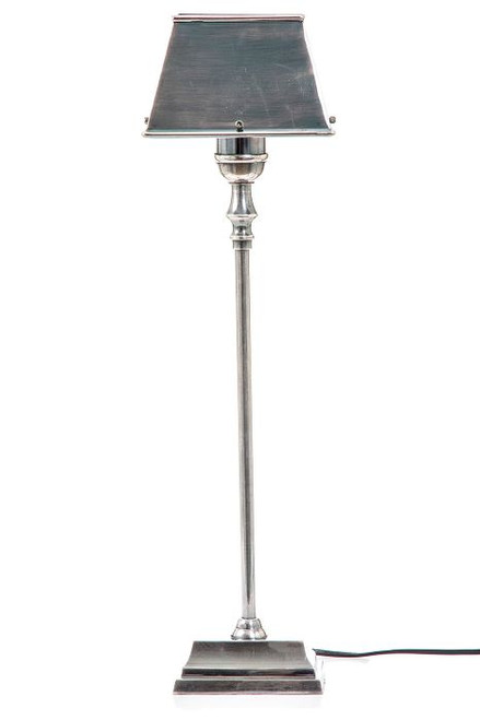 Collin Table Lamp with Metal Shade, Silver
