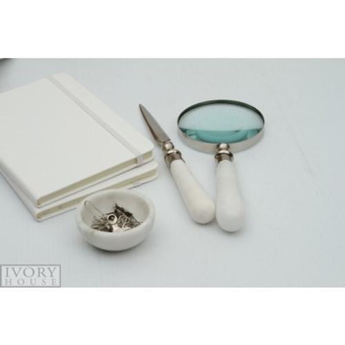 Ivory House Magnifying Glass & Letter Opener Set