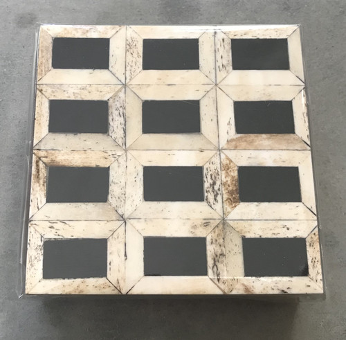 French Country Wood Horn Inlay Coasters