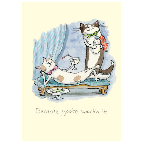 Two Bad Mice Card -Because You're Worth It