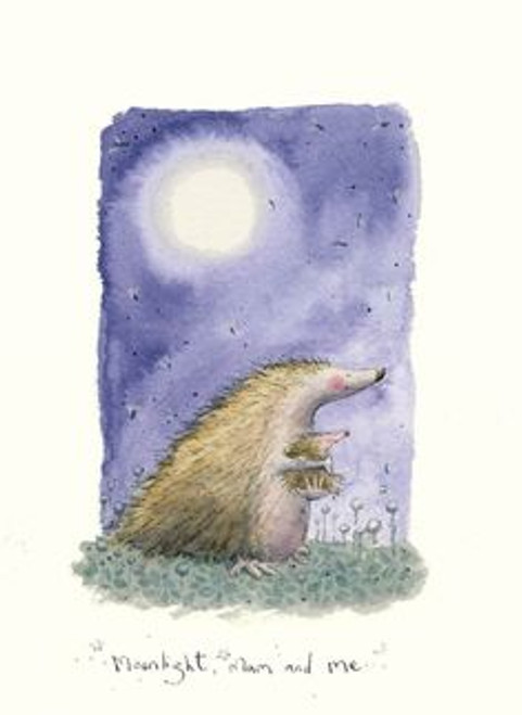 Two Bad Mice Card - 'Moonlight, Mum and Me'