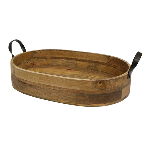 Ploughman's Oval Serving Tray with Iron Handles