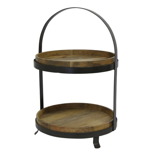 French Country Ploughman's Cake Stand Large 2 Tier