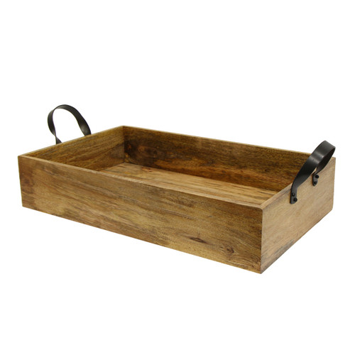 Ploughman's Small Rectangle Tray with Iron Handles