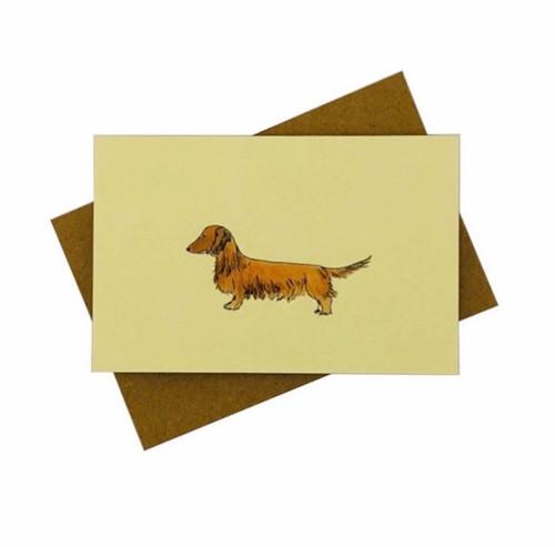 Penny Lindop Designs 'Sausage Dog' (Dachshund) Mini Greeting Card