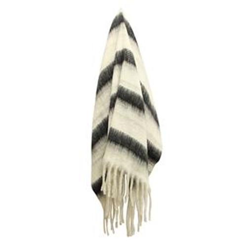 Zag Charcoal Stripe Throw Blanket