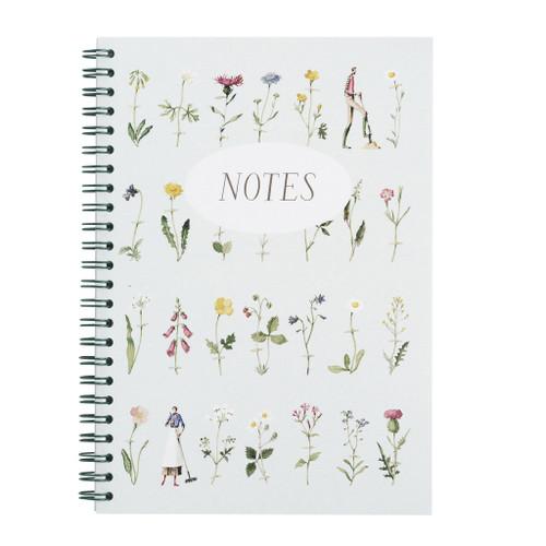 Laura Stoddart Notebook - WILD FLOWERS - A5 WIRO NOTEBOOK