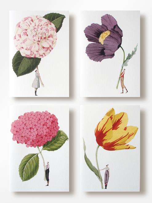 Laura Stoddart - IN BLOOM – NOTECARDS SET 1 – Pack of 8, 4 Designs