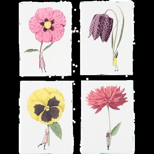 Laura Stoddart - IN BLOOM – NOTECARDS SET 2 – Pack of 8, 4 Designs