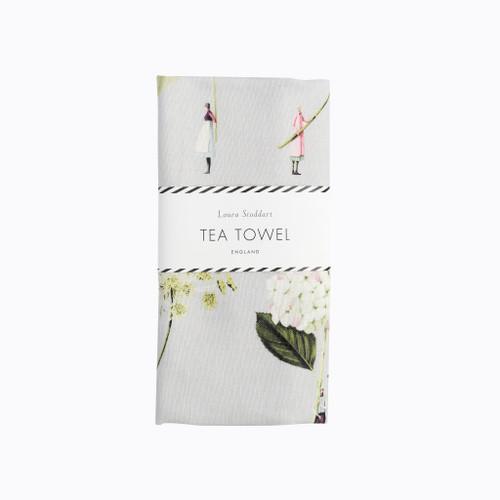 Laura Stoddart - IN BLOOM TEA TOWEL - GREEN FLOWERS