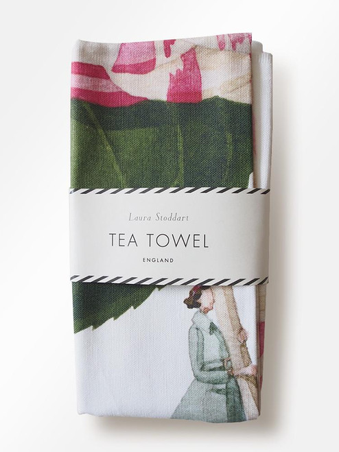 Laura Stoddart - IN BLOOM TEA TOWEL - CAMELLIA FLOWER