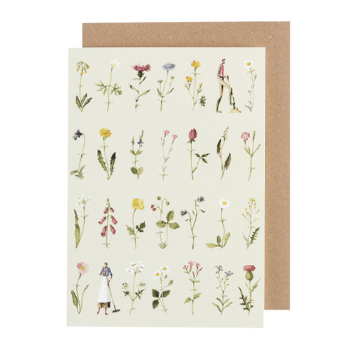 Laura Stoddart - GREETINGS CARD - WILD FLOWERS