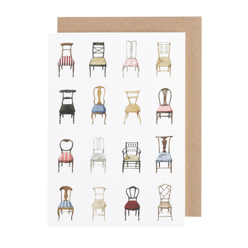 Laura Stoddart - GREETINGS CARD - Musical Chairs