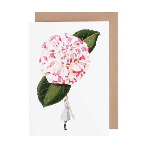 Laura Stoddart - GREETINGS CARD - Camelia