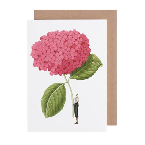 Laura Stoddart - GREETINGS CARD - PINK HYDRANGEA
