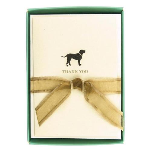 Boxed Cards- Thank you Black Lab, Labrador Dog La Petite Presse by Graphique de France.