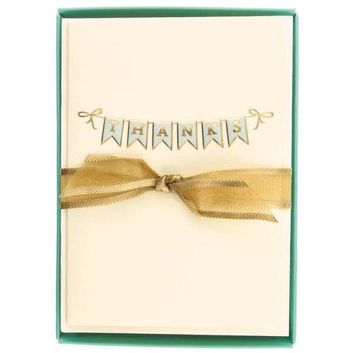 Boxed Cards- Thank you 'Thanks' Bunting, La Petite Presse by Graphique de France.