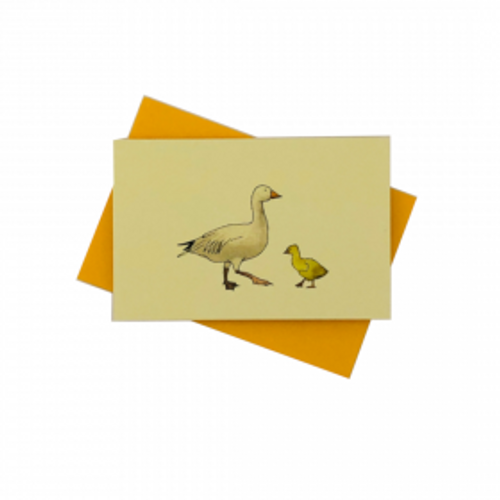 Penny Lindop Designs 'Mother and Chick' Mini Greeting Card Duck Goose