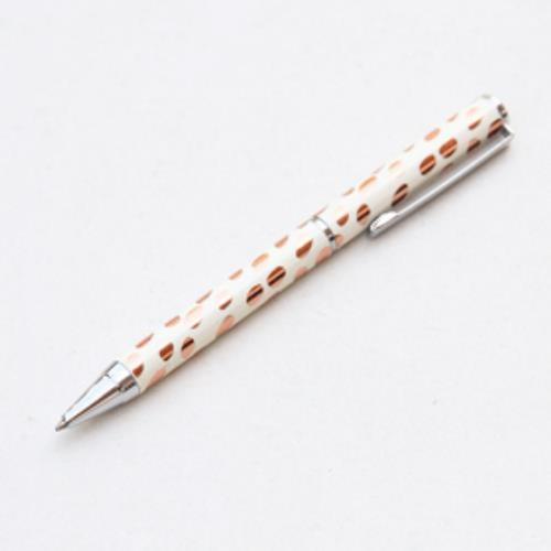 Caroline Gardner UK Rose Gold Metallic Dotty Boxed Pen