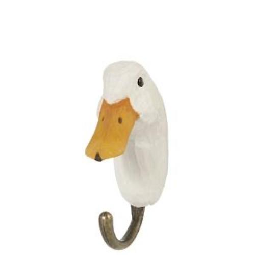 Hand Carved Hook by Wildlife Garden, Sweeden - Duck