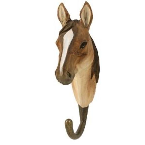 Hand Carved Hook by Wildlife Garden, Sweeden - Horse