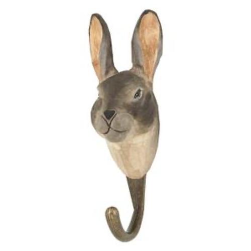 Hand Carved Hook by Wildlife Garden, Sweeden - Mountain Hare