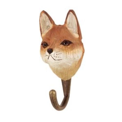 Hand Carved Hook by Wildlife Garden, Sweeden - Fox