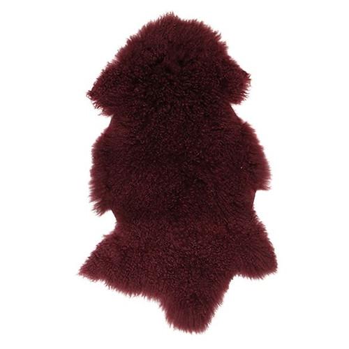 BERRY MONGOLIAN FUR SHRUG Throw Rug Blanket