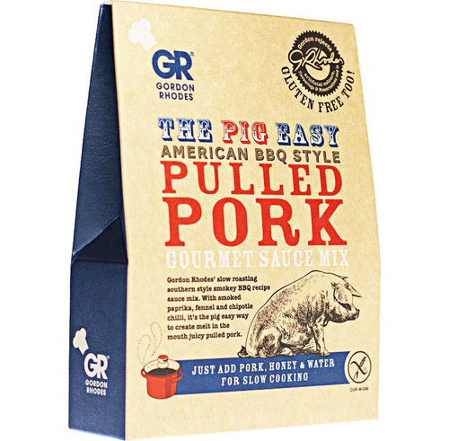Gordon Rhodes - The Pig Easy American BBQ Style Pulled Pork Gourmet Sauce Mix