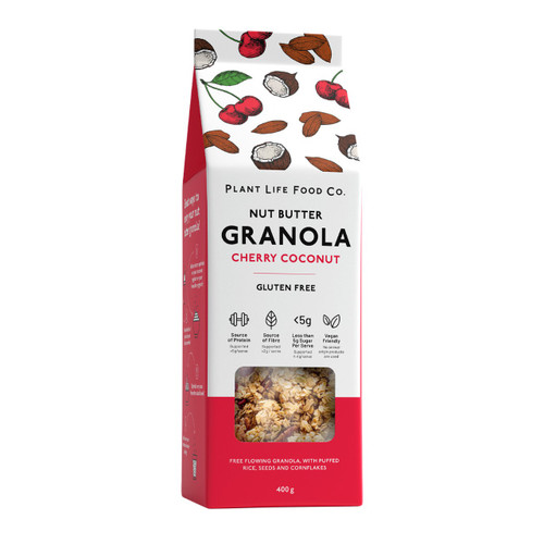 Plant Life Food Co Gluten Free Granola - Cherry Coconut 400g