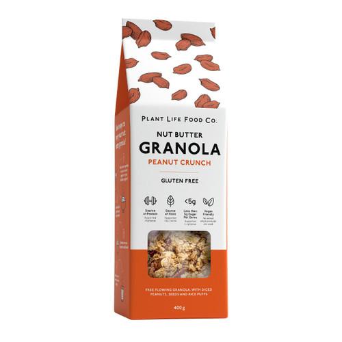 Plant Life Food Co Gluten Free Granola - Peanut Crunch 400g