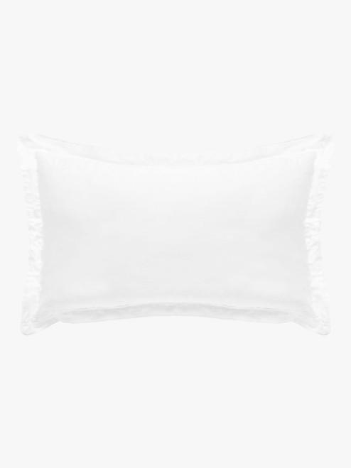 Grosgrain Pillowcases, Pair – White Egyptian Cotton