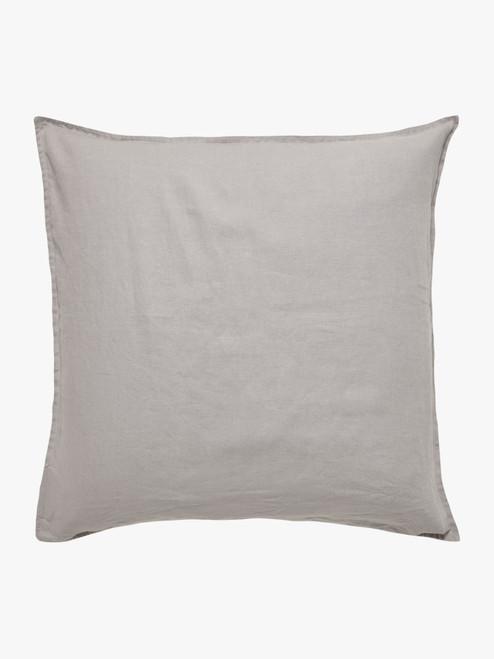 Mondo 100% French Linen Euro Pillowcases Pair – Smoke Grey