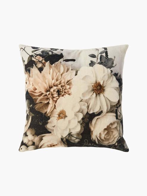 Splendor Cushion, Botanical Print– Cotton Velvet Cushion with Feather Insert