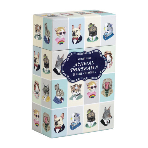 Galison Memory Game - Berkley Bestiary Animal Portraits All Ages