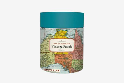 Cavallini Vintage 500 pc Puzzle- Australia Map Adult Jigsaw