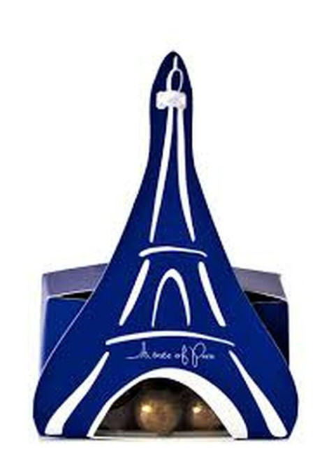 A Taste of Paris- 'Eiffel Tower' - 3 Gold Almonds Roasted Coated Nougatine & Dark Chocolate (100g)
