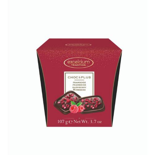 EXCELCIUM CHOCOLATE - DARK CHOCOLATE WITH RASPBERRY 107G