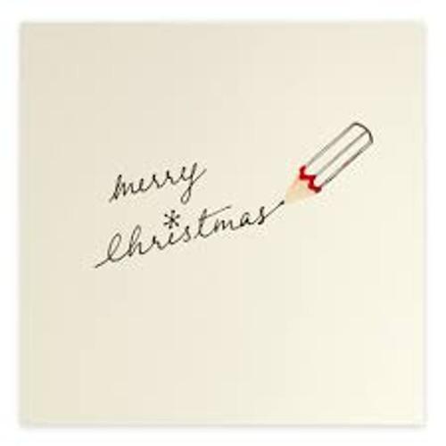 Ruth Jackson Pencil Shaving Cards - 'Merry Christmas' Pencil Writing Card
