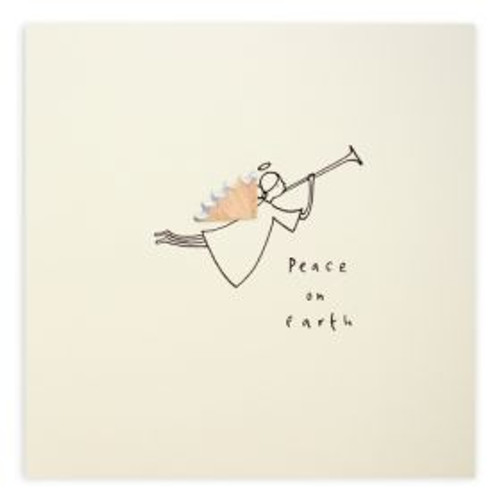 Ruth Jackson Pencil Shaving Cards - 'Peace on Earth' Angel Card