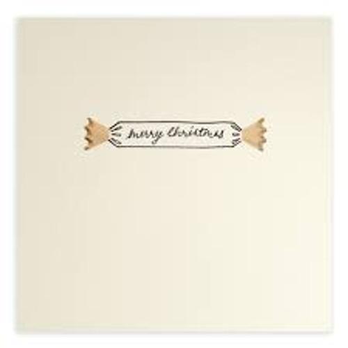 Ruth Jackson Pencil Shaving Cards - 'Merry Christmas!' Cracker Card