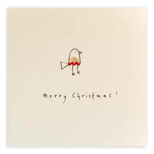 Ruth Jackson Pencil Shaving Cards - 'Merry Christmas!' Bird Card