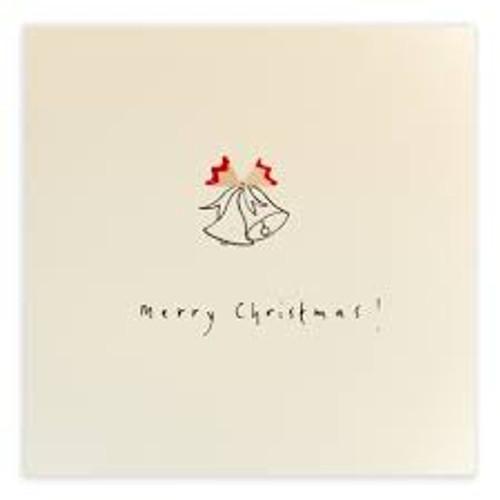 Ruth Jackson Pencil Shaving Cards - 'Merry Christmas!' Bells Card