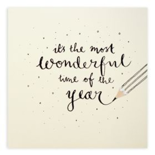 Ruth Jackson Pencil Shaving Cards - 'it's the most wonderful time of the year' Pencil Writing Card