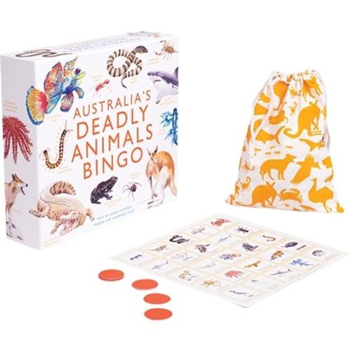 Australia's Deadly Animals Bingo Family Game