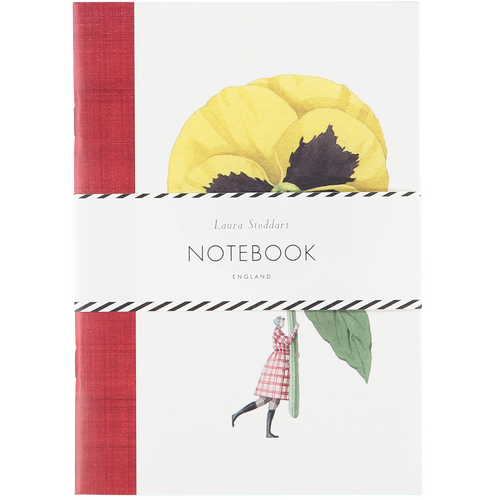 IN BLOOM - A5 NOTEBOOK PANSY AND CARNATION