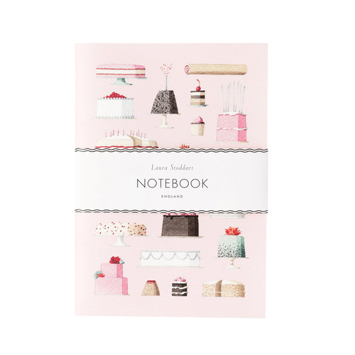 CAKES - A5 NOTEBOOK  Laura Stoddart