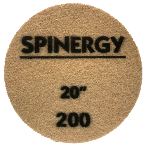 """Hydro-Force, Stone Polishing Pad, Spinergy, Brown, 200 Grit, 20"""""""