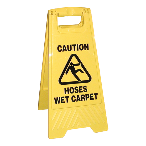 Double Sided Caution Sign