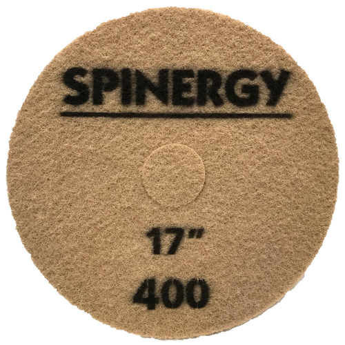 """Hydro-Force, Spinergy Stone Polishing Pad, 400 Grit, 17"""""""